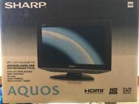 "SHARP AQUOS 20"" LCD Colour HD Widescreen TV"