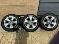 "4x winter alloy wheels 16"" BMW genuine. BMW f30 + spare tyre"