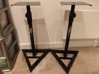 2 x Gorilla Studio Monitor Speaker Stand