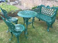 Stunning cast iron garden set