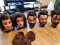 Hairdressing Training Heads x 5