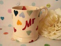Emma Bridgewater Polka Hearts Mr Mug - 1st Quality