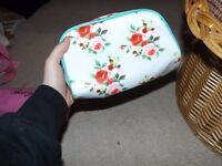 Cath Kidston style floral beauty bag