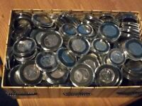 10p, 50p, Old £1 And £2 Coin Collection (Capsules not included)