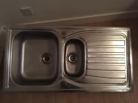 Stainless Steel Double (large & small) Kitchen Sink in good condition