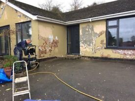 PAINTER EXTERIOR PAINTING PROPERTY MAINTENANCE PRESSURE WASHING CHERRY PICKER HIRE INVERCLYDE