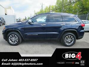 2014 Jeep Grand Cherokee Limited, Sunroof, Leather, BU Cam