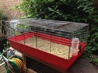 Large rabbit / Guinea pig indoor cage with water bottle