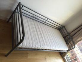 £65 IKEA Single Bed frame Silver Colour