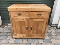 Victorian Antique Pine Cupboard/Wardrobe/half dresser