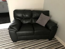 2x 2seater leather sofas