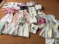 Bundle of girls newborn (and up to 1 month) baby clothes