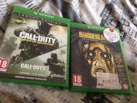 Call of duty infinite warfare and borderlands Xbox one
