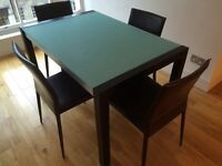 Dwell dining room table and 4 chairs
