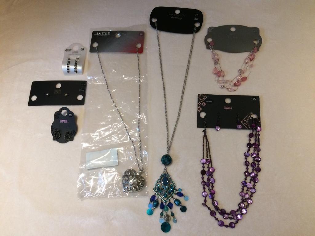 M&S Jewellery Bundle - 5x Earrings. 4x Necklaces - BRAND NEW. RRP £84