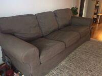 Three-seater IKEA sofa grey (EKTORP)