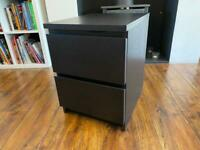 Two IKEA Malm Two drawer units