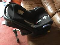 Maxi cosi baby seat with iso fix base