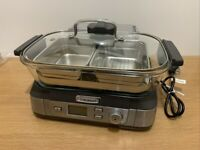 NEW - Cuisinart Cookfresh Professional Glass Steamer, 5L Capacity, Stainless Steel