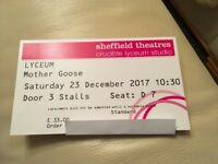 Mother Goose Pantomime Tickets - Lyceum Theatre Saturday 23rd December Fantastic Seats
