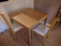 IKEA Burjstaa Dinner Table (Oak Veneer) & 2 Börje Chairs (Oak) & Full Length Mirror