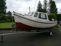 Orkney Longliner 16 Foot with Cuddy, 15 HP Honda engine & Many extras