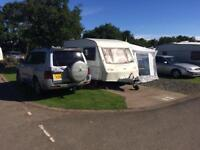 eldiss crown prince 2 berth caravan with awning