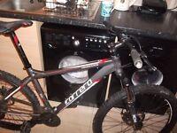 carrera vengance 24 geared mountan bike 6061