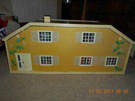Lundby Stockholm dolls' house (No. 6040), circa 1976-1984, with furniture and dolls