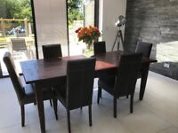 Raft Reclaimed Teak - Dining room table and 6 chairs