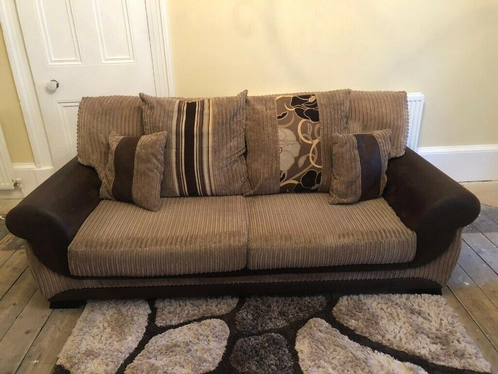 Astonishing Brown Suite 3 2 With Swivel Chair Pouffee Excellent Condition For Quick Sale 500 Ono In Greenock Inverclyde Gumtree Pabps2019 Chair Design Images Pabps2019Com