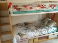 Bunk bed with storage stairs