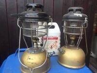 Two Tilley Lamps complete and in working order plus two others for repair or spares.