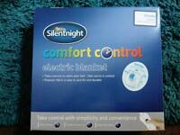Silent night comfort control electric blanket (brand new)