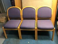 6 x Office waiting room reception chairs