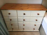 Chest of drawers and side table