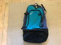 Large Turquoise & Navy Backpack