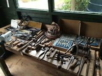 Vintage Tools Saddlers , Cobblers .and Leather workers Tools