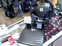 PLAYSTATION 2 THRUSTMASTER STEERING WHEEL AND PEDALS
