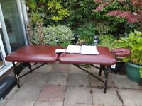 Portable Massage Bed, Fully Adjustable. With Carry Bag.