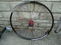 bontrager 26 inch mountain bike front wheel disc brake - uk delivery available