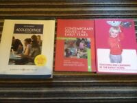Childcare books early years and adolescence (set of 3)