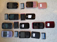7 x Blackberry Phones 8520 9300 9320 - Job lot - Spares -All Power Some Work Fully - Read