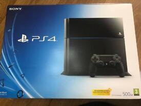 Sony Playstation 4 black boxed
