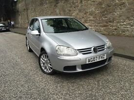 VOLKSWAGEN GOLF 1.6 FSI MATCH 2007 MOT 1 YEAR JUST DONE FULL SERVICE HISTORY AND NEW TIMING BELT KIT