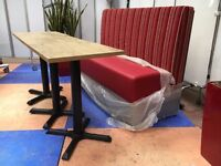 Café Diner Bench & 3 Tables/New Bench Booth Seating/Commercial Seating/Cafe Seat