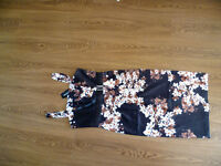£15 NEW Dress, Black, Brown, off white / Ivory, silky feel, strappy, kaleidoscope,size 12