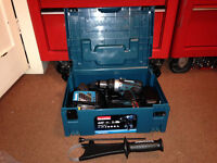MAKITA DHP458RMJ LXT 18V CORDLESS HAMMER DRILL WITH CASE 2XBATTERIES & CHARGER.BRAND NEW.