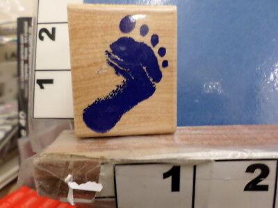 Footprint baby foot  RUBBER STAMP - Baby Footprint Stamp