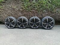REDUCED-top quality (RRP £1,700.00) 22 inch 5/108 HAWKE alloy wheels 5 stud-(no cracks,welds,buckles